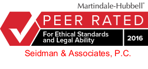 Martindale Peer Rating Icon for Seidman & Associates